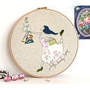 'Jolly Lovely Lady' Personalised Embroidery Hoop Art