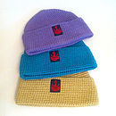 Violet, Turquoise and Yellow Watchcaps