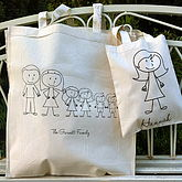 Personalised Stick Family Bag - christmas decorations
