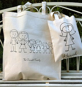 Personalised Stick Family Bag - holdalls & weekend bags