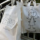 Personalised Stick Family Bag