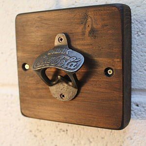 Reclaimed Wooden Wall Bottle Opener