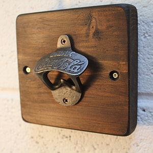 Reclaimed Wooden Wall Bottle Opener - corkscrews & bottle openers