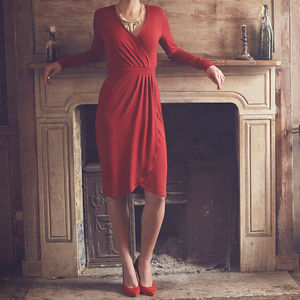 Long Sleeved Wrap Dress 'Eliza' - women's fashion