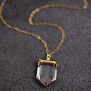 Sterling Silver Crystal Quartz Pendant