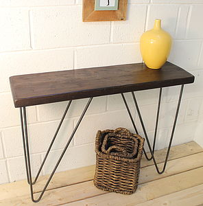 Industrial Wood And Steel Console Table - furniture
