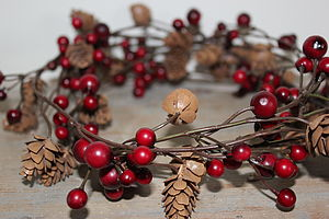 Berry And Pine Christmas Garland - christmas parties & entertaining