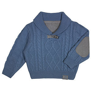 French Design Boys Cable Knit Jumper - clothing