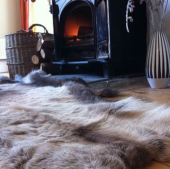 Thick And Luxurious Reindeer Skin
