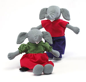Fairtrade Handcrafted Elephant Pair