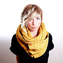 Mustard Yellow Button Scarf and Snood