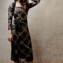Olivia Long Sleeve Lace Dress In Black