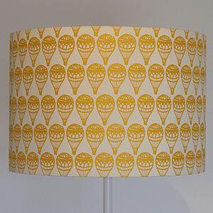 Children's Hot Air Balloon Silk Lampshade - children's lights