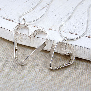 Personalised Silver Secret Heart Necklace Set - children's accessories