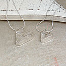 Personalised Silver Secret Heart Necklace Set