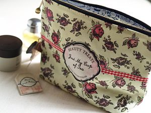 'Just My Cup Of Tea' Wash Bag - bathroom