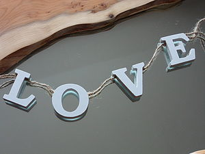 'Love' Garland - bunting & garlands