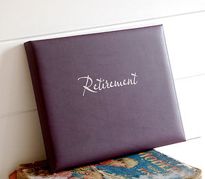 Leather Retirement Guest Book - retirement gifts