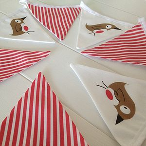 Retro Robin Christmas Bunting - garlands & bunting