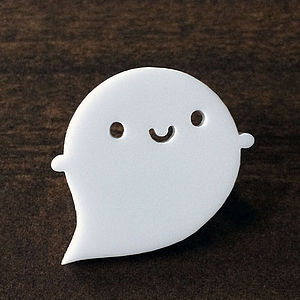 Little Ghost Acrylic Brooch - pins & brooches