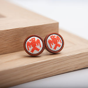 Hand Embroidered Eagle Cufflinks - men's accessories