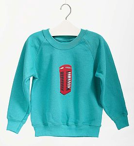 Children's Telephone Box Sweatshirt - clothing