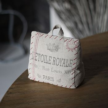 Paris Linen Door Stop