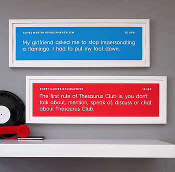 Personalised Tweet Print