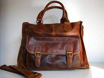 Leather Weekend Laptop Bag
