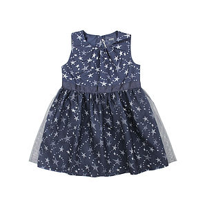 Pully Blue Party Dress - clothing