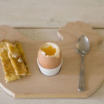 Wooden Chicken Egg Cup Board