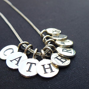 Personalised Silver Initial Or Name Necklace - necklaces & pendants