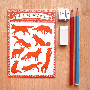 A Bag Of Foxes Wall Stickers