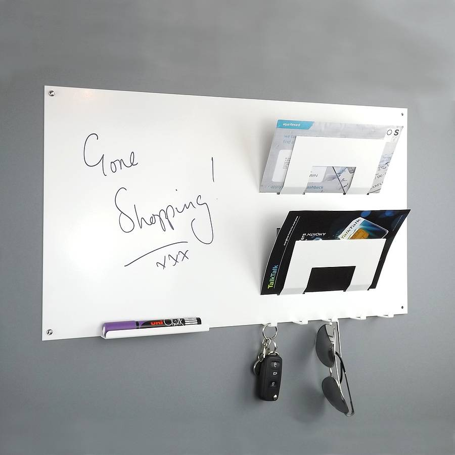 Magnetic Memo Board Letter Rack And Key Hook By The Metal
