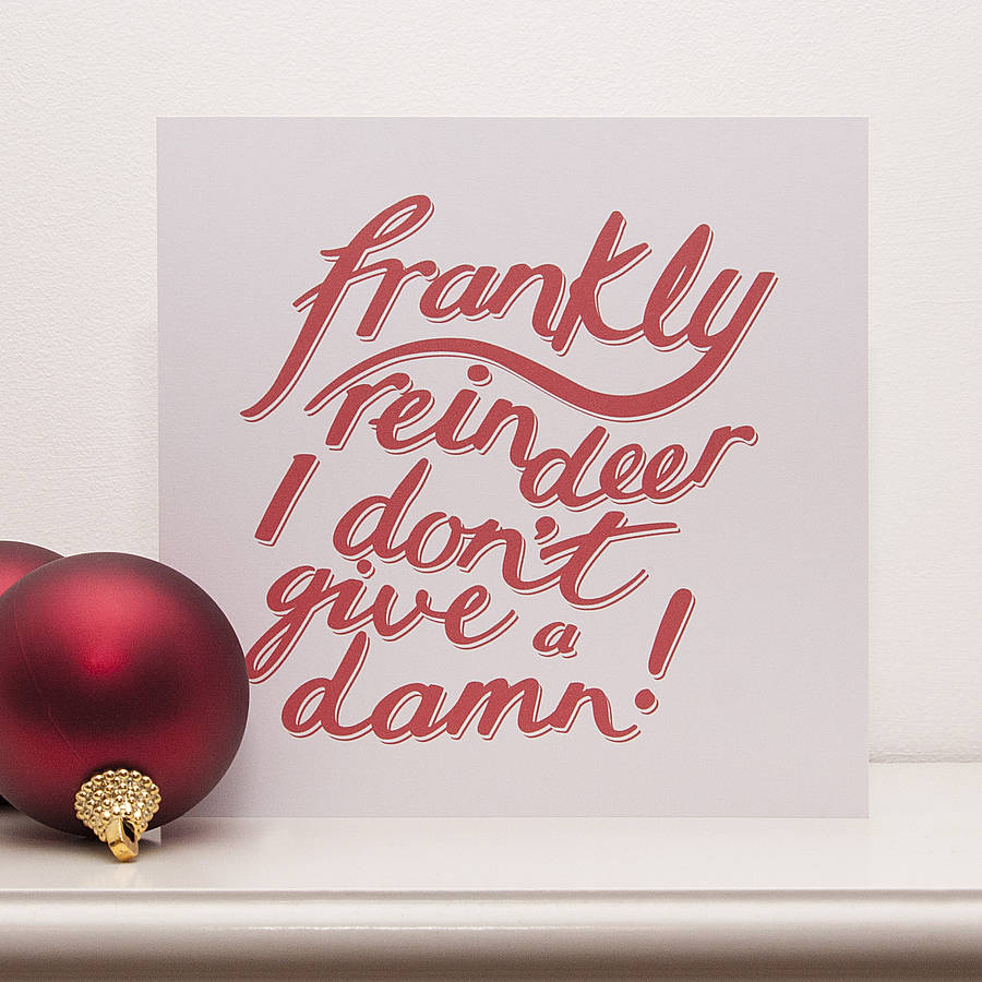 Frankly Reindeer Christmas Card By Typaprint