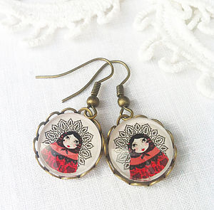 Russian Doll Earrings - earrings