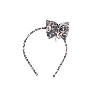 Liberty Print Big Bow Hairband - hair accessories