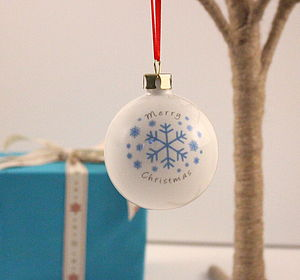 Personalised Snowflake Christmas Bauble