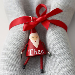 Personalised Mini Father Christmas Decoration - tree decorations