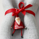 Personalised Mini Father Christmas Decoration