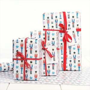 Nutcracker Soldier Christmas Gift Wrap - wrapping
