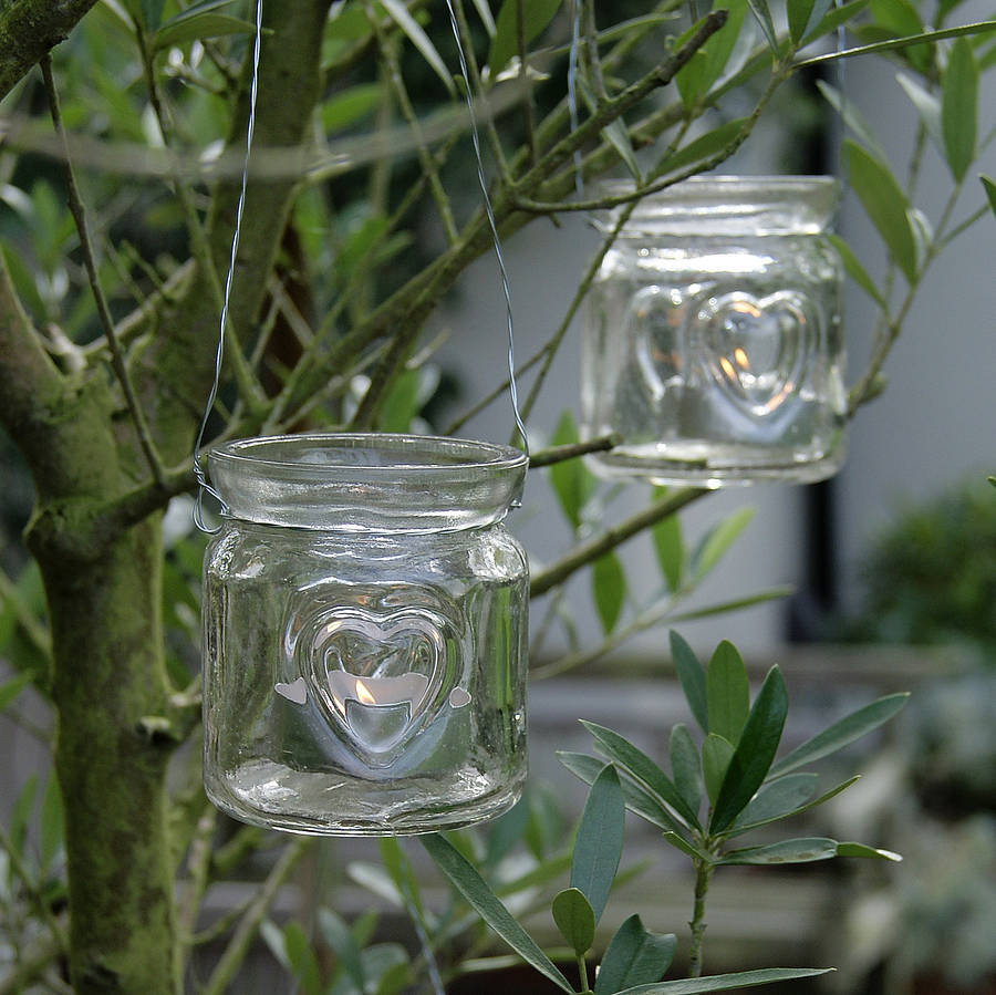 Outdoor Tea Light Holders Hanging outdoor tea light holders outdoor lighting heart glass hanging tealight holder by red lilly workwithnaturefo