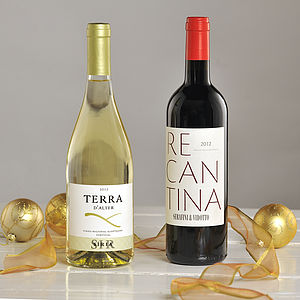 Wine Lover's Christmas Two Bottle Wine Gift