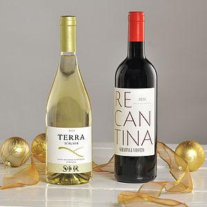 Wine Lover's Christmas Two Bottle Wine Gift