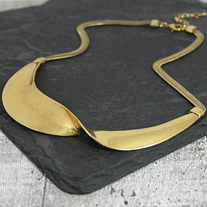 Metal Twist Necklace - statement necklaces