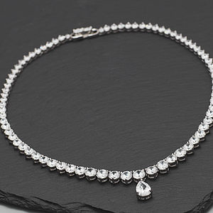 Brilliant Cut Crystal Necklace - necklaces & pendants
