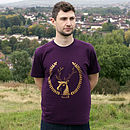 Organic Mens 'Simon The Stag' T Shirt