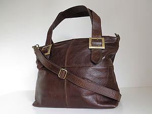 Leather Bag Buckle Tote - handbags