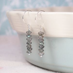 A Pair Of Labradorite Droplet Earrings - earrings