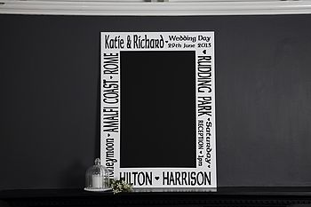 Personalised Wedding Keepsake Chalkboard